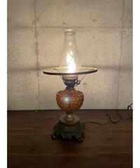 ヴィンテージ アンバーガラス テーブルランプ ①
