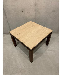ヴィンテージ マーブルトップ ウッド サイドテーブル ①