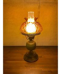 ヴィンテージ アンバーガラス テーブルランプ