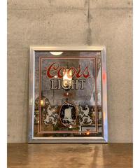 Coors Light ヴィンテージ パブミラー