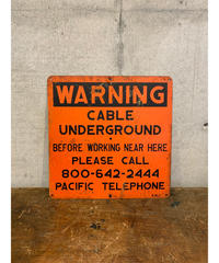 Cable Underground Warning メタルサイン ②