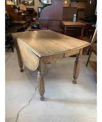ヴィンテージ オークウッド ドロップリーフ ダイニングテーブル