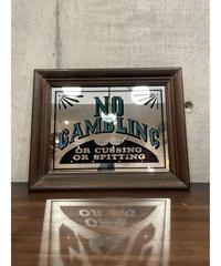 ヴィンテージ No Gambling パブミラー