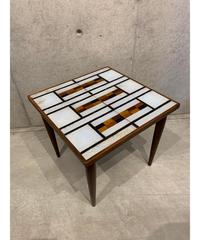 ヴィンテージ モザイクガラストップ サイドテーブル