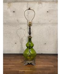 ヴィンテージ グリーンガラス テーブルランプ