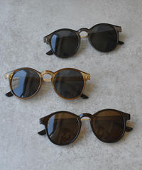 sunglasses-02036 クリアフレーム サングラス ダークブラウン ブラウン ブラック