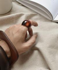 mb-ring2-02092 ブラウンマーブル ボリュームリング