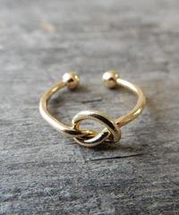 mb-ring-02045 ノットリング サイズ調整可能 ゴールド・シルバー