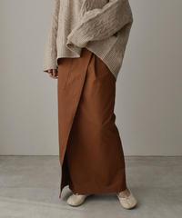 11月上旬入荷分 予約販売 bottoms-04033 日本製 ポケット チノ ストレッチ スカート ベージュ ブラウン