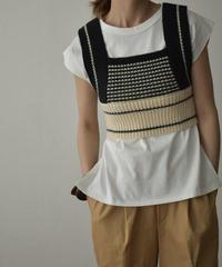 knit-02131 デザインニットビスチェ