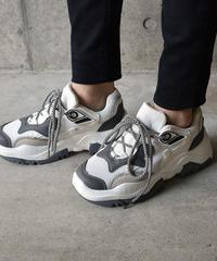 shoes-02053 ダッドスニーカー グレー×ホワイト