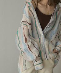 5月中旬から5月下旬入荷分 予約販売 tops-02224 マーブル シアーシャツ