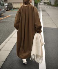 11月上旬入荷分 予約販売 coat-13004 タックノーカラー ウールコート モカ