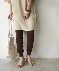bottoms-04007 日本製 サーマル パンツ ベージュ カーキ ブラウン
