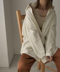 tops-04053 コットンルーズシャツ エクリュ ブラウン