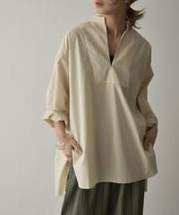 tops-04071 日本製 スキッパードレスシャツ エクリュ