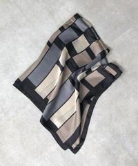 mb-scarf-02012 パターン柄スカーフ グレーミックス
