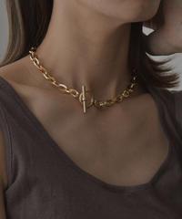 mb-necklace2-02041 日本製  オーバルチェーン マンテルチョーカーネックレス  ゴールド ☆WA04