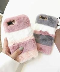 mb-iphone-02406 ファー マルチ ボーダー iPhoneケース