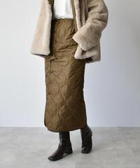 bottoms-04016 日本製 遠赤外線蓄熱保温裏地 キルティングラップスカート キャメルカーキ グリーンカーキ