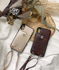 mb-iphone-02569 ショルダー付き カード収納 iPhoneケース