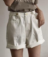 nh-bottoms-02022 デニムショートパンツ オフホワイト