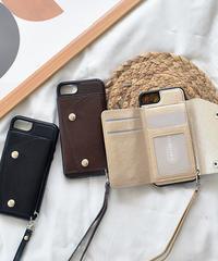 mb-iphone-02560 フェイクレザー 三つ折り カード収納付き iPhoneケース
