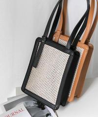 bag2-02357 メッシュスクエア ショルダーバッグ ハンドバッグ