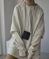 leather-09003 牛革 ショルダー付き財布 ブラック