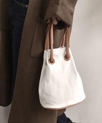 bag2-02377 キャンバス2way巾着バッグ ハンドバッグ ショルダーバッグ