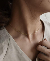 mb-necklace2-02024 SV925 プレートチェーン チョーカー ネックレス ゴールド