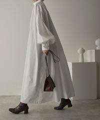 ホワイト・ベージュのみ4月下旬入荷分 予約販売 onepiece-04043 日本製 ボリュームスリーブ カフタンドレス ホワイト ベージュ カーキ