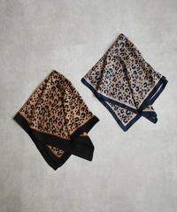 mb-scarf-02014 レオパード柄スカーフ ブラウン×ブラック グレージュ×ネイビー