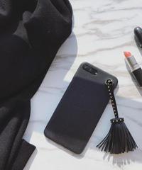 mb-iphone-02365 タッセル付き フェイクレザー風 iPhoneケース