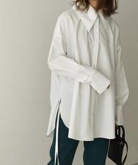 4月上旬から4月中旬入荷分 予約販売 tops-04077 日本製 ビッグカラー シャツ ホワイト