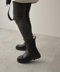 shoes-02140 トラックソール サイドゴアブーツ ブラック
