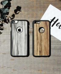 mb-iphone-02167 ブラックフレーム ウッドデザイン マット素材 iPhoneケース