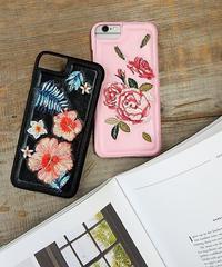 mb-iphone-02301 フラワー柄 花柄 刺繍柄 iPhoneケース