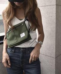 mb-bag2-02388 2重ポケット ナイロン サコッシュ