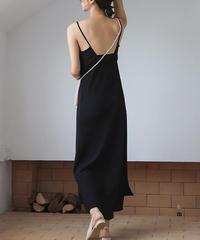 6月下旬~7月上旬入荷分 予約販売 onepiece-02001 オープンバックキャミドレス ブラック