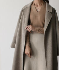 knit-02072 Vネック ニットトップス ベージュ モカ ブラック