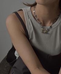 mb-necklace2-02038 日本製 Pig Nose チェーン マンテル ネックレス シルバー×ゴールド ☆WA04