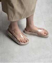 shoes-02096 クリアクロスストラップ サンダル