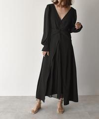 【cizatto】 Chiffon Pleats Dress(Black)