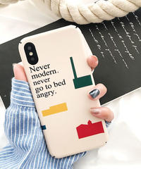 mb-iphone-02454 Never moden,never go to bed angry. iPhoneケース