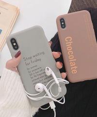 mb-iphone-02524  英字 シンプル アート iPhoneケース