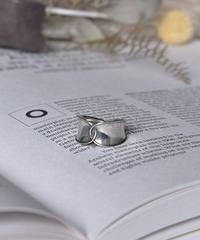 mb-ring2-02114 SV925 カーブクロスリング  シルバー925
