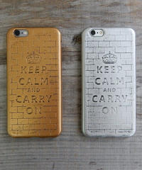 mb-iphone-02176 ブロック柄 KEEP CALM AND CARRY ON iPhoneケース