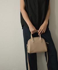 bag2-02575 エコレザー ミニ ボストン バッグ エクリュ グレージュ キャメルベージュ ブラック
