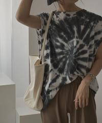 nh-tops-02175 タイダイ染 フレンチスリーブTシャツ